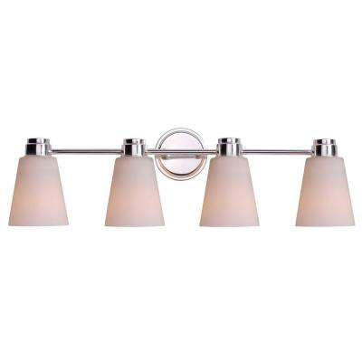 Rockdale 4-Light Polished Nickel Vanity Light