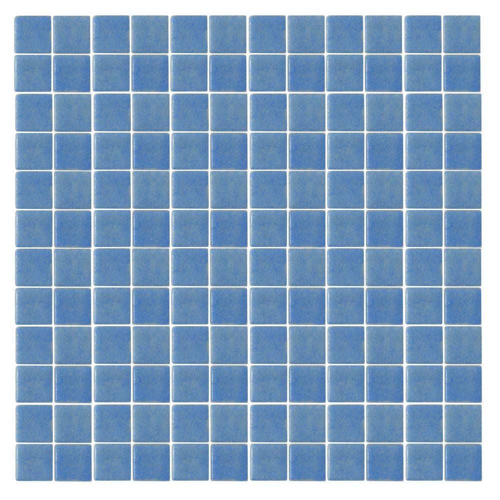 Oceanz O-Blue-1721 Mosaic Recycled Glass Anti Slip 12 in. x 12