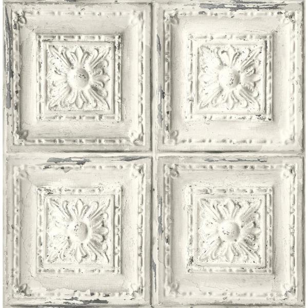 Nextwall Distressed Tin Tile L And
