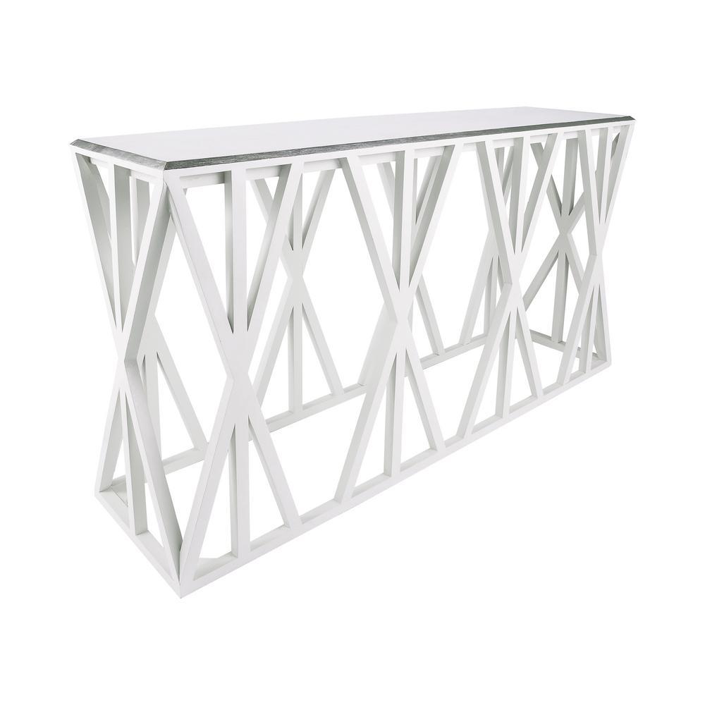 An Lighting Weft Tressle Grain De Bois Cucino Foam And Silver Leaf Console Table