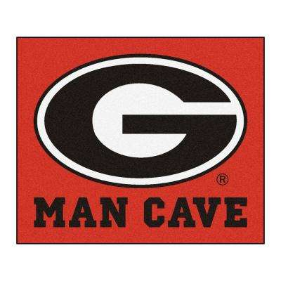 University of Georgia Red Man Cave 5 ft. x 6 ft. Area Rug
