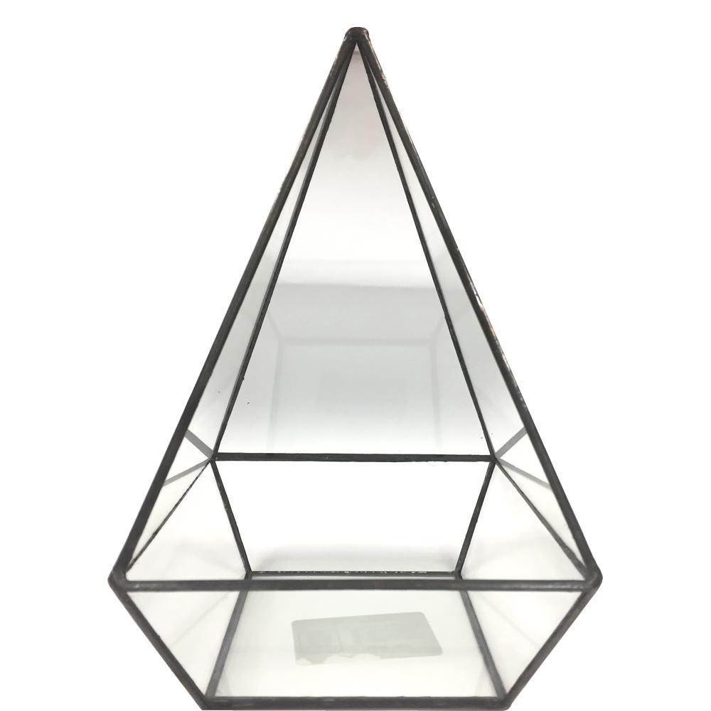 Geometric 5 in. x 8 in. Glass Pyramid Terrarium