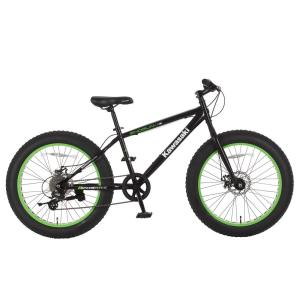 Kawasaki 24 inch x 4 inch Wheels Black Shogun Fat Tire Bike by Kawasaki