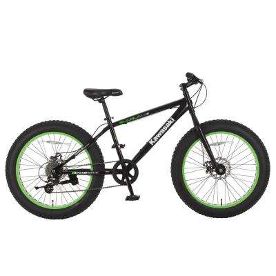 24 in. x 4 in. Wheels Black Shogun Fat Tire Bike