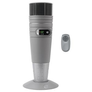 Full Circle 25 in. 1500-Watt Electric Ceramic Oscillating Tower Space Heater with Digital Display and Remote Control
