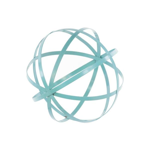 Urban Trends Collection 10 in. H Decorative Sculpture in Blue Coated Finish