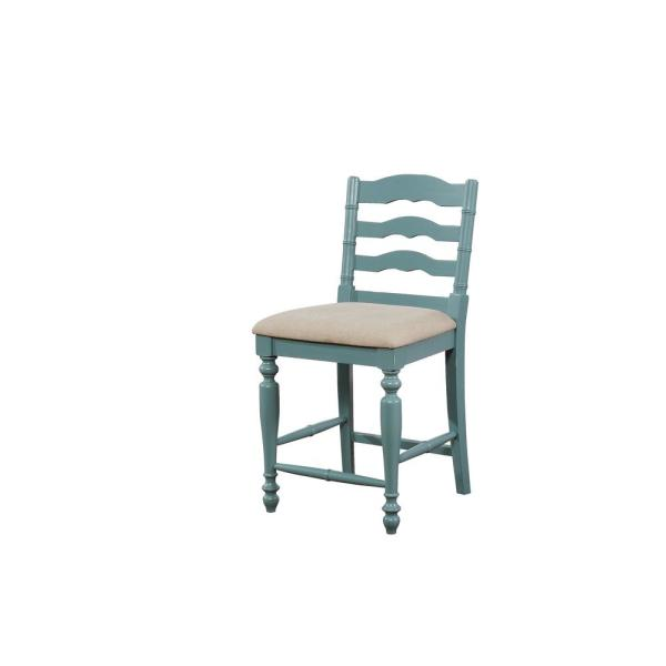 Marla 24 in. Antique Blue Counter Stool