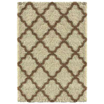 Bella Collection Ivory 5 ft. x 7 ft. Area Rug