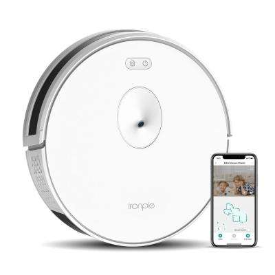 Ironpie M6 Robotic Vacuum Cleaner Visual Navigation Camera Remote Monitoring 1800Pa Strong Suction Self-Charging