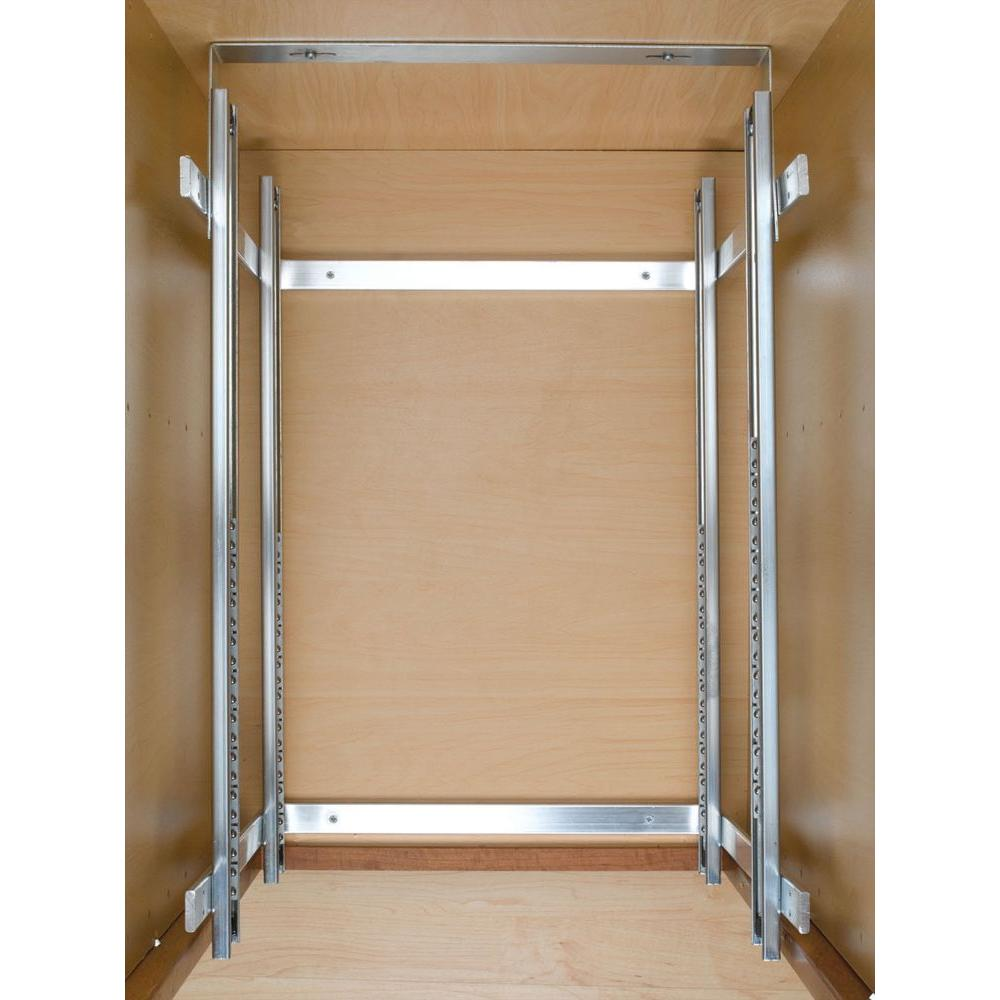 2 Tier Wire Basket Cabinet Pull Out Chrome Shelves Shelf ...