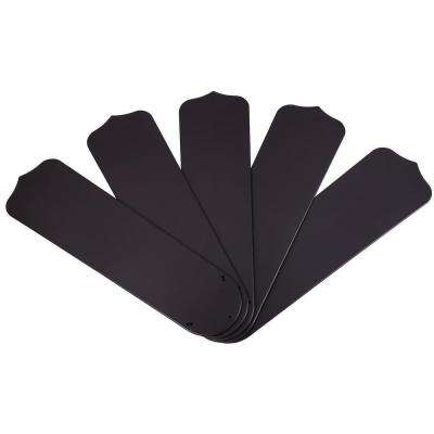 52 in. Dark Brown Outdoor Replacement Fan Blades (5-Pack)
