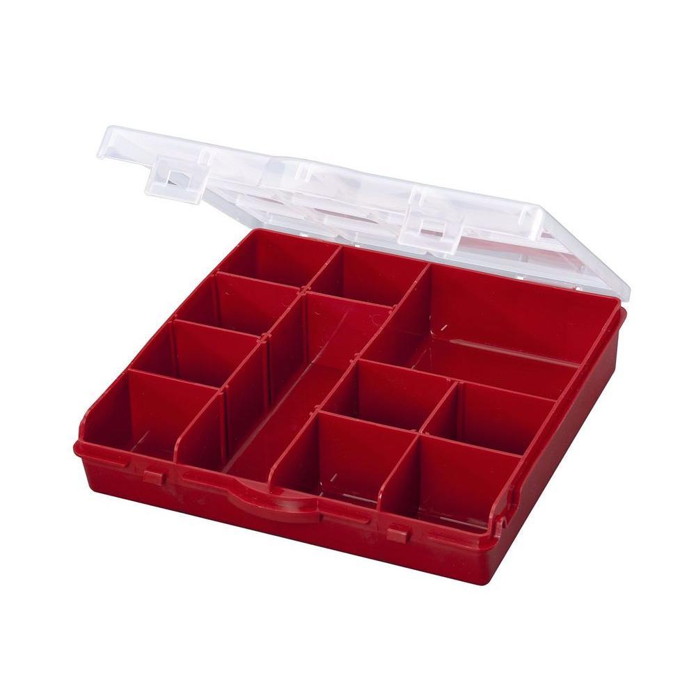 13-Compartment Storage Box Small Parts Organizer
