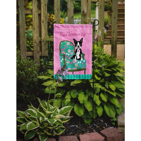 Caroline S Treasures 11 In X 15 1 2 In Polyester Happy Valentine S Day Boston Terrier 2 Sided 2 Ply Garden Flag Vha3001gf The Home Depot