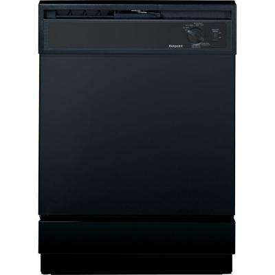 Front Control Dishwasher in Black, 64 dBA