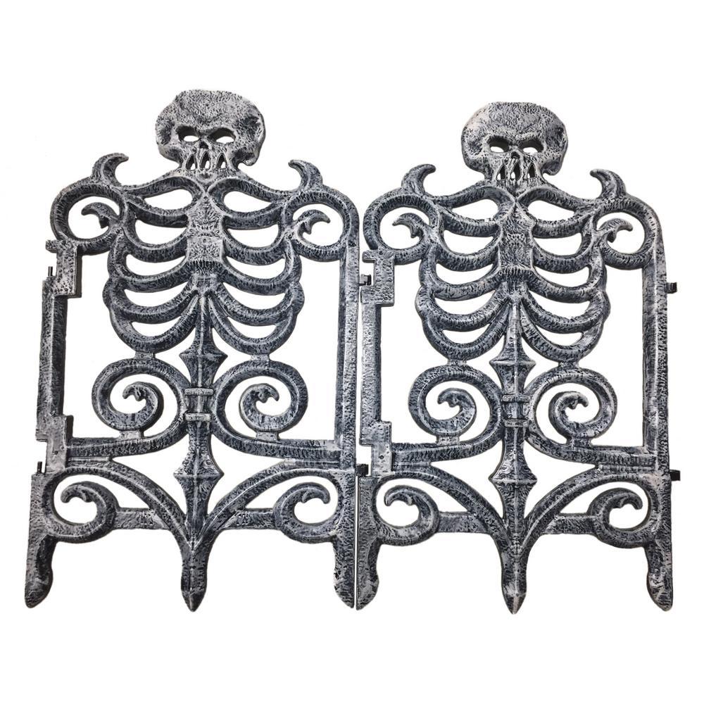 30 in. Victorian Skeleton Fencing-Gray