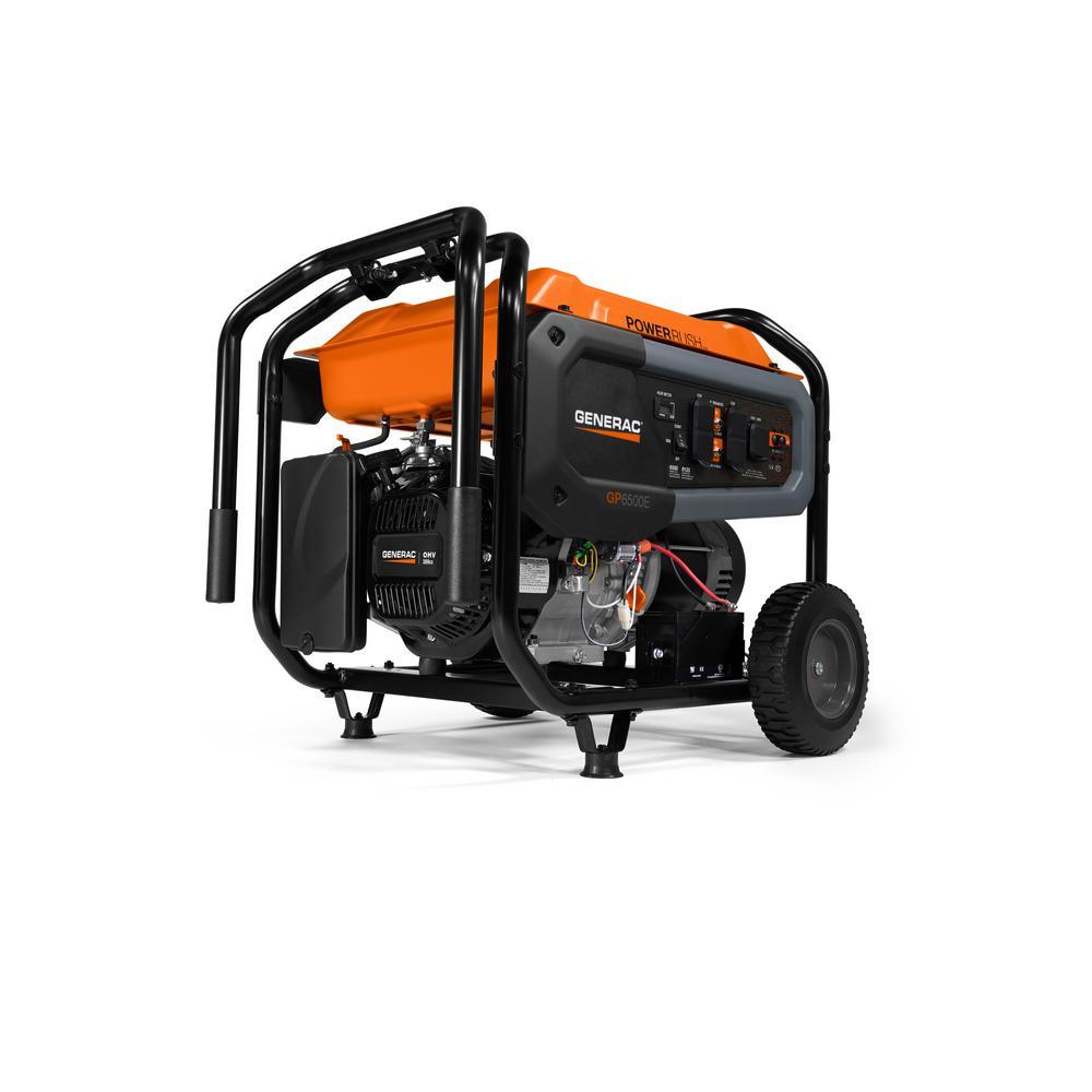Generac GP6500E- 6500-Watt Gasoline Powered Portable Generator 49/CSA