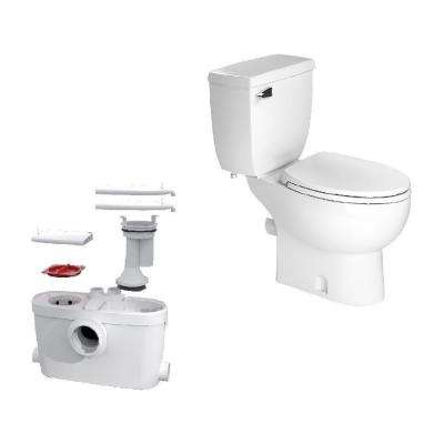 SaniAccess3 2-Piece 1.280 GPF Single Flush Elongated Toilet with .5 HP Macerating Pump in White