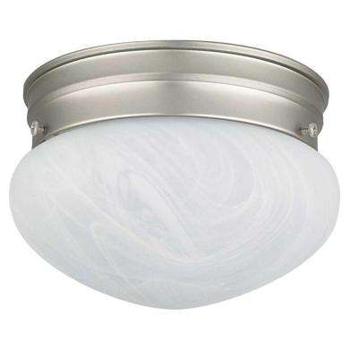 1-Light Satin Nickel Ceiling Mount