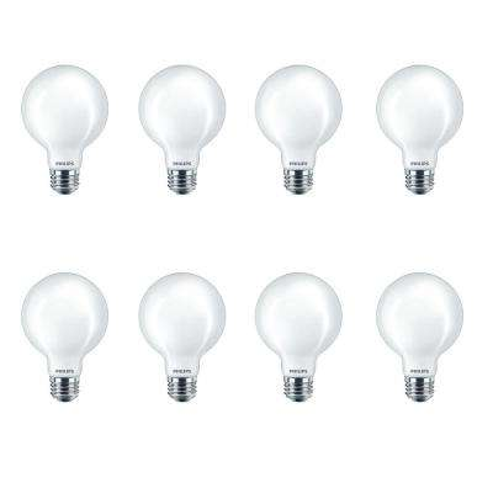 40-Watt Equivalent G25 Dimmable LED Light Bulb Frosted Globe Soft White (8-Pack)