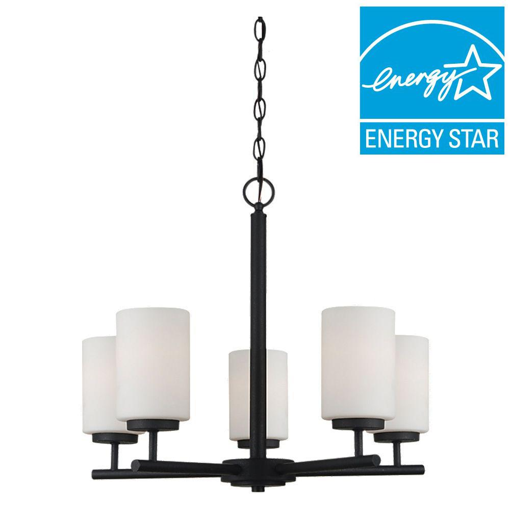 Sea Gull Lighting Oslo 5-Light Blacksmith 1-Tier Chandelier