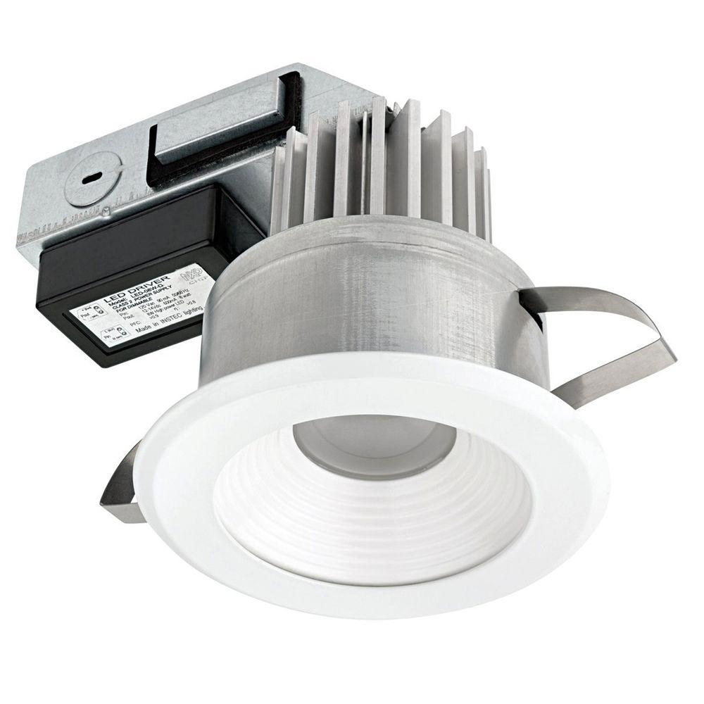 Globe Electric 4 in. IC Rated Energy Star Certified White Integrated Dimmable Recessed LED Lighting Kit