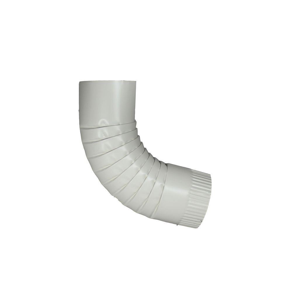Spectra Metals 4 in. Round Linen Aluminum Downpipe Elbow
