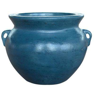 14 in. Cabo Blue Soft Handle Clay Pot