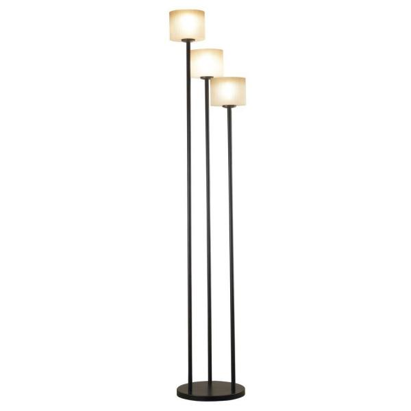 Matrielle 72 in. 3-Light Oil-Rubbed Bronze Torchiere