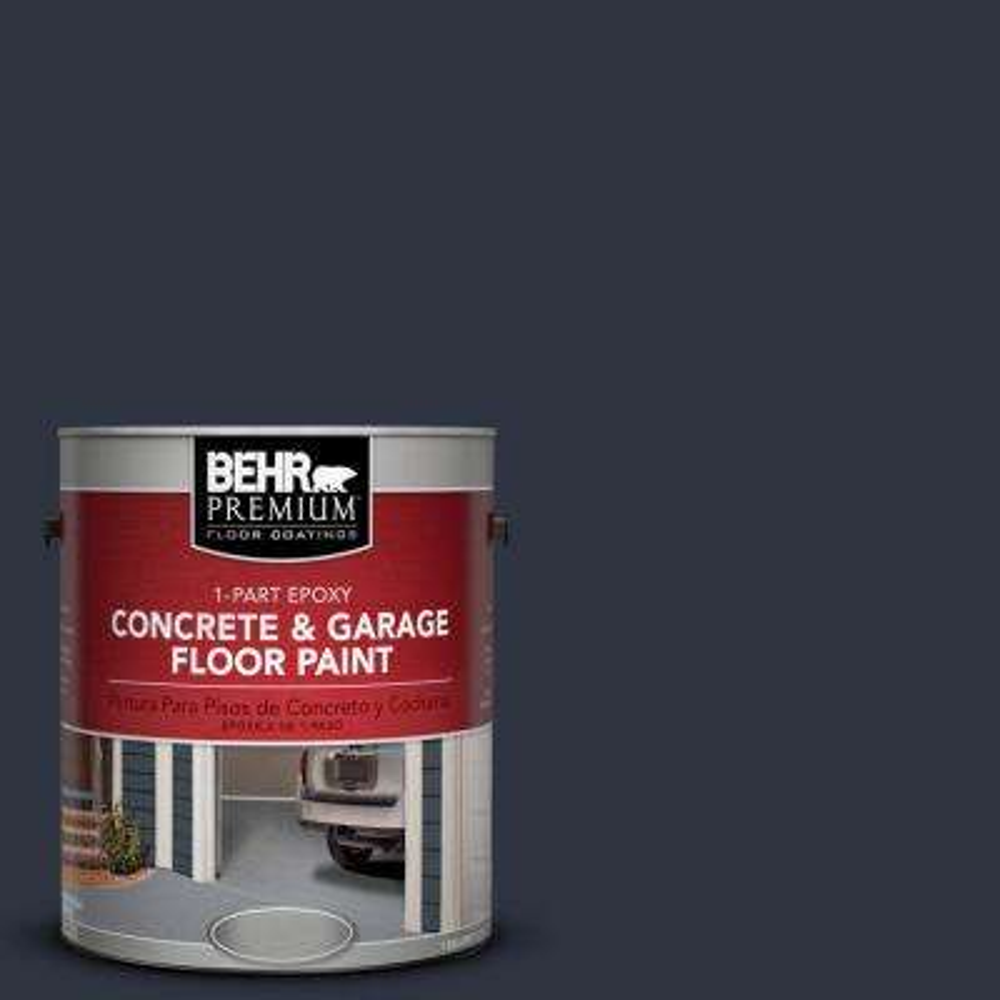 1 gal. #ECC-23-3 Blackbird 1-Part Epoxy Concrete and Garage Floor Paint