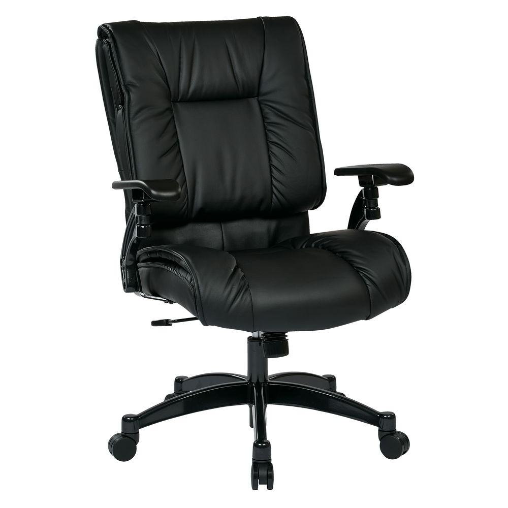 Space Seating Black Eco Leather Conference Office Chair