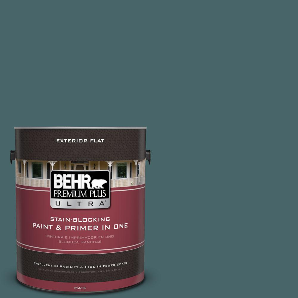 1 gal. #500F-7 Mythic Forest Flat Exterior Paint