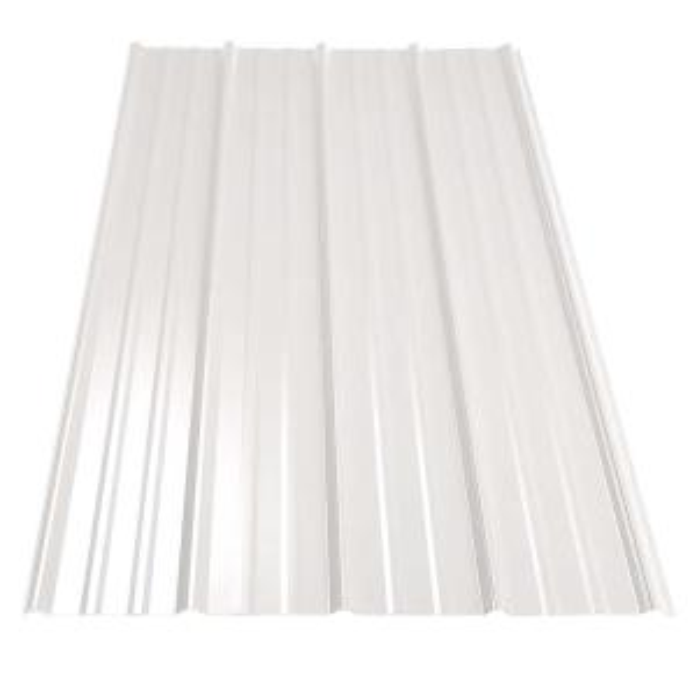12 Ft Sm Rib Galvanized Steel 29 Gauge Roof Panel In Bone
