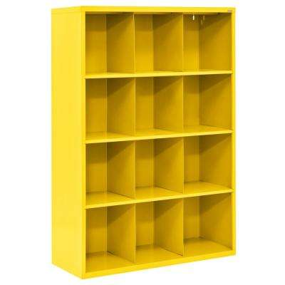 Cubby 46 in. x 66 in. Yellow 12-Cube Organizer
