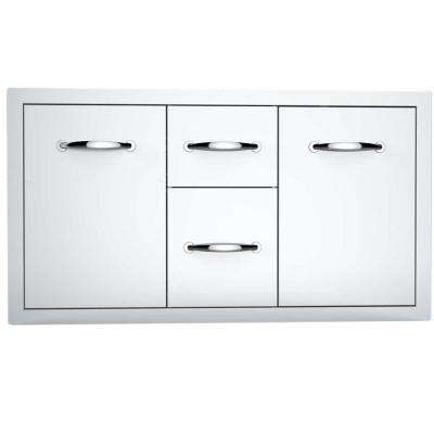 Classic Series 42 in. 304 Stainless Steel Flush Multi-Storage Combo