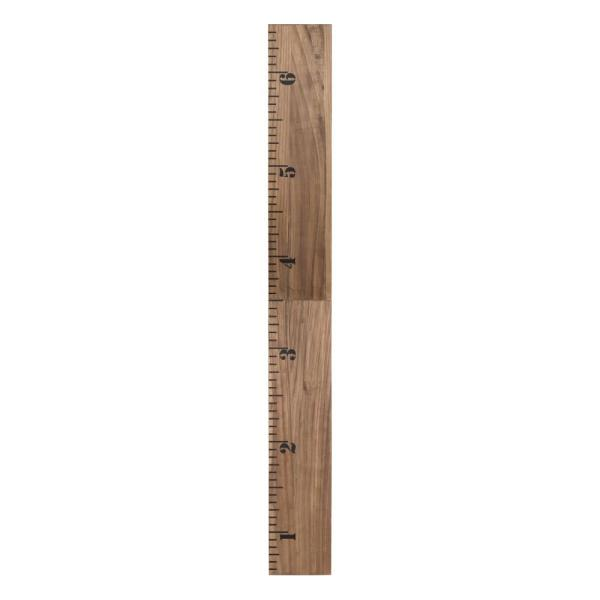 Rustic Brown 6.5 ft. Wooden Growth Chart