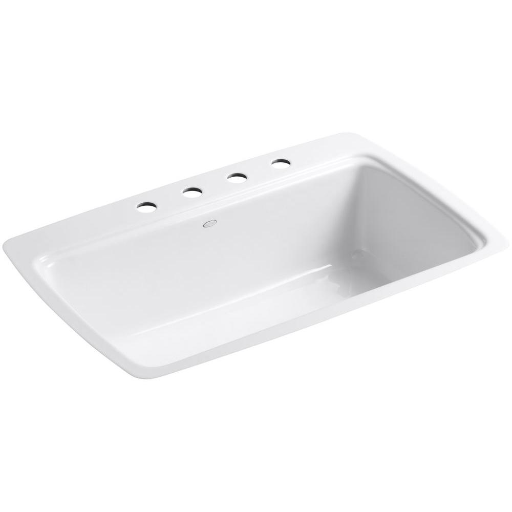 kohler single basin kitchen sink kohler cape dory tile in cast iron 33 in 4 single 8821