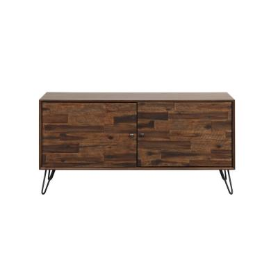 Galway 48 in. Dark Brown Composite TV Stand Fits TVs Up to 55 in. with Storage Doors