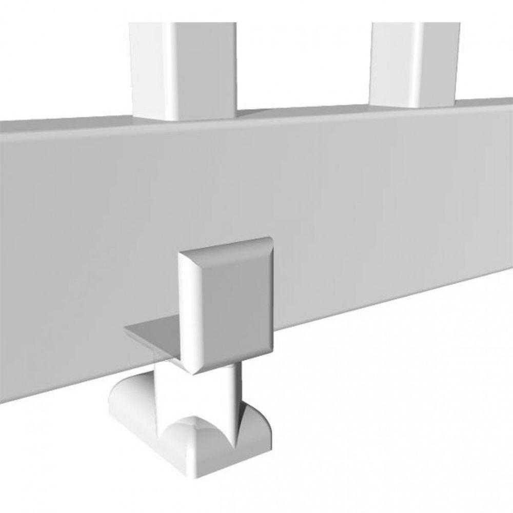 Rdi Crossover 4 In Vinyl White Finish Level Rail Support