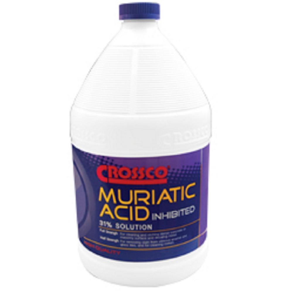 Crossco 1 Gal Muriatic Acid 31 Inhibited Hard Floor