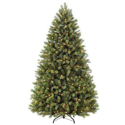 7.5 ft. Pre-Lit Incandescent Oxford Fir Artificial Christmas Tree with 700 UL-Listed Clear Lights