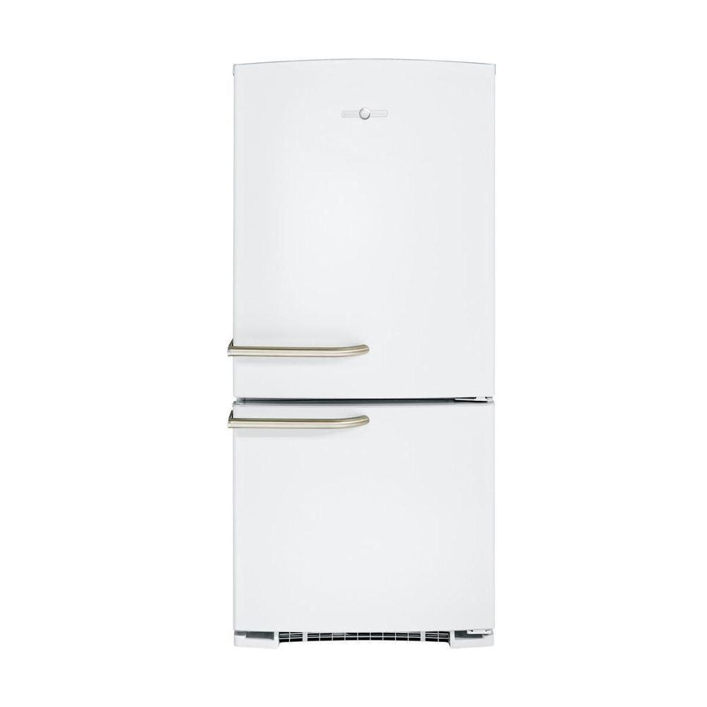 GE Artistry 29.75 in. W 20.3 cu. ft. Bottom Freezer Refrigerator in White
