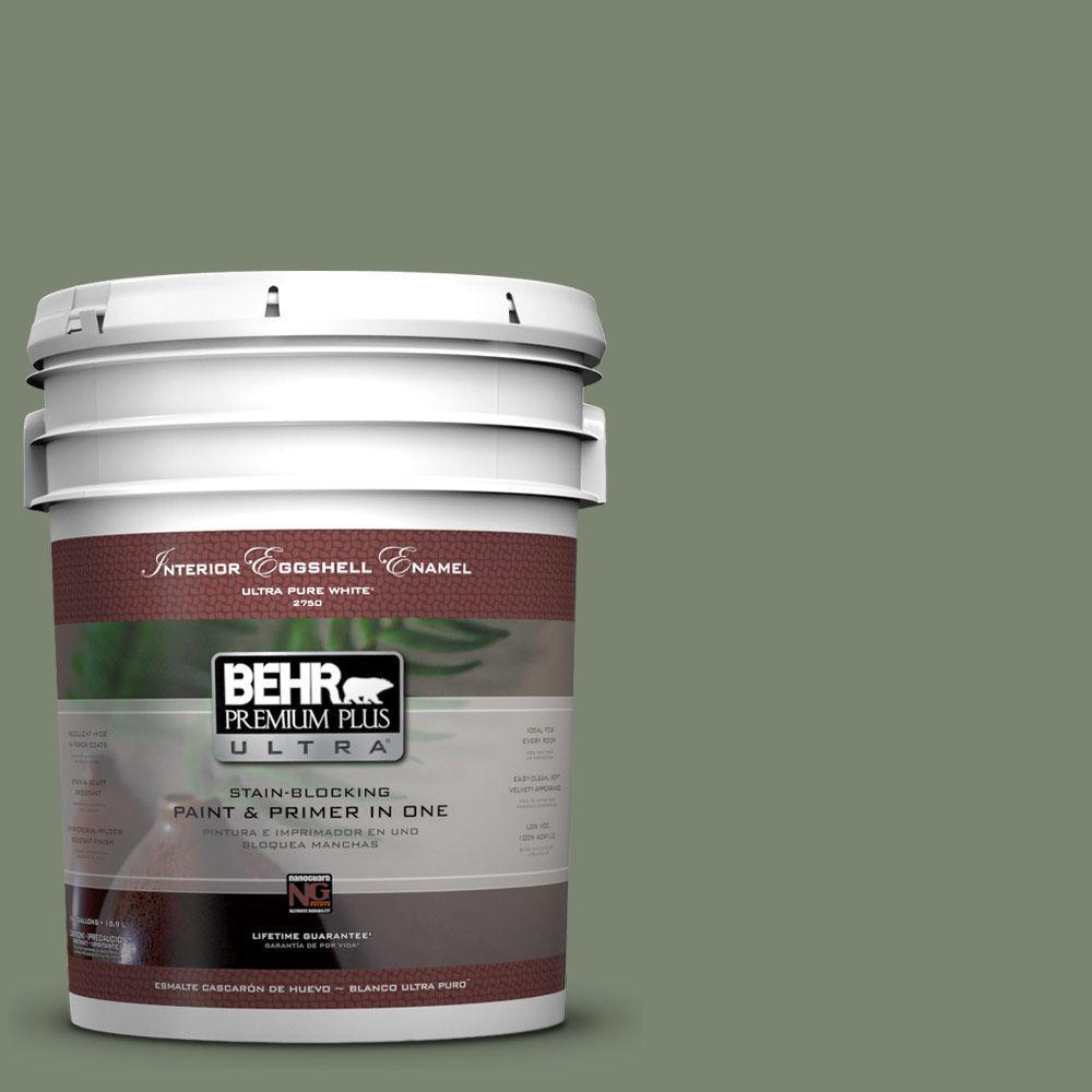 BEHR Premium Plus Ultra 5-gal. #PPU11-18 Cactus Garden Eggshell Enamel Interior Paint