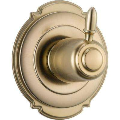 Victorian 1-Handle 3-Setting Diverter Valve Trim Kit in Champagne Bronze (Valve Not Included)