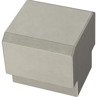 Tapered Edge 1 in. (25mm) Satin Nickel Cabinet Knob