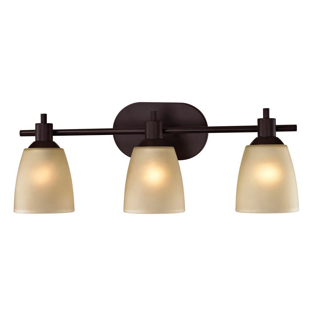 Titan Lighting Jackson 3-Light Oil-Rubbed Bronze Wall Mount Bath Bar Light