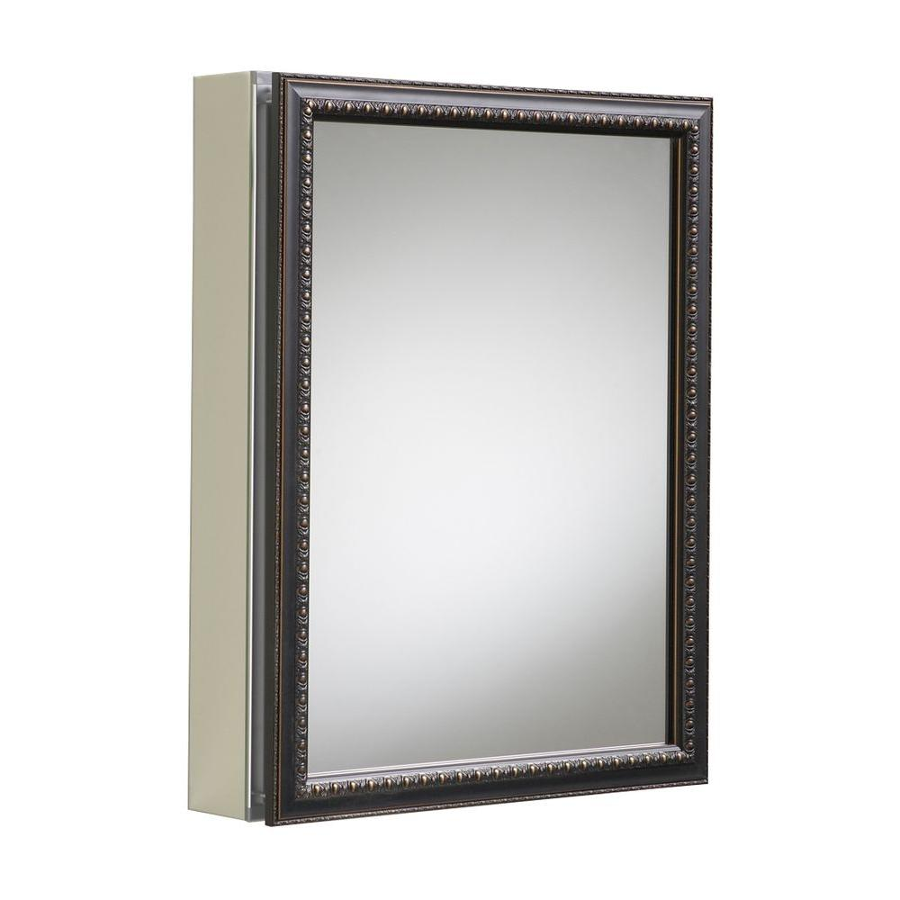 20 in. x 26 in H. Recessed or Surface Mount Mirrored