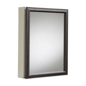KOHLER 20 In. X 26 In H. Recessed Or Surface Mount Mirrored Medicine Cabinet  In Oil Rubbed Bronze K 2967 BR1   The Home Depot