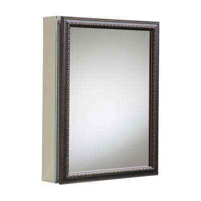 20 in. x 26 in H. Recessed or Surface Mount Mirrored Medicine Cabinet in Oil Rubbed Bronze
