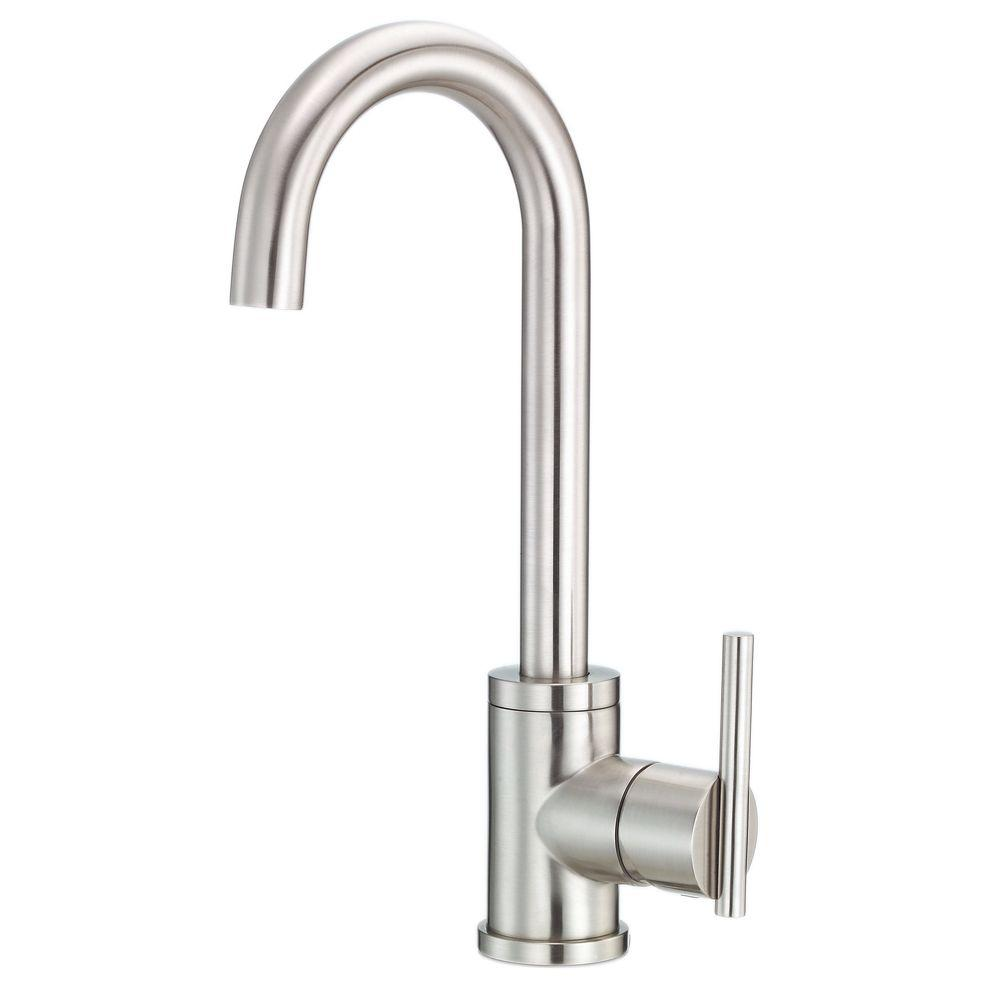 Danze Parma Single-Handle Bar Faucet with Side Mount Lever Handle in Stainless Steel