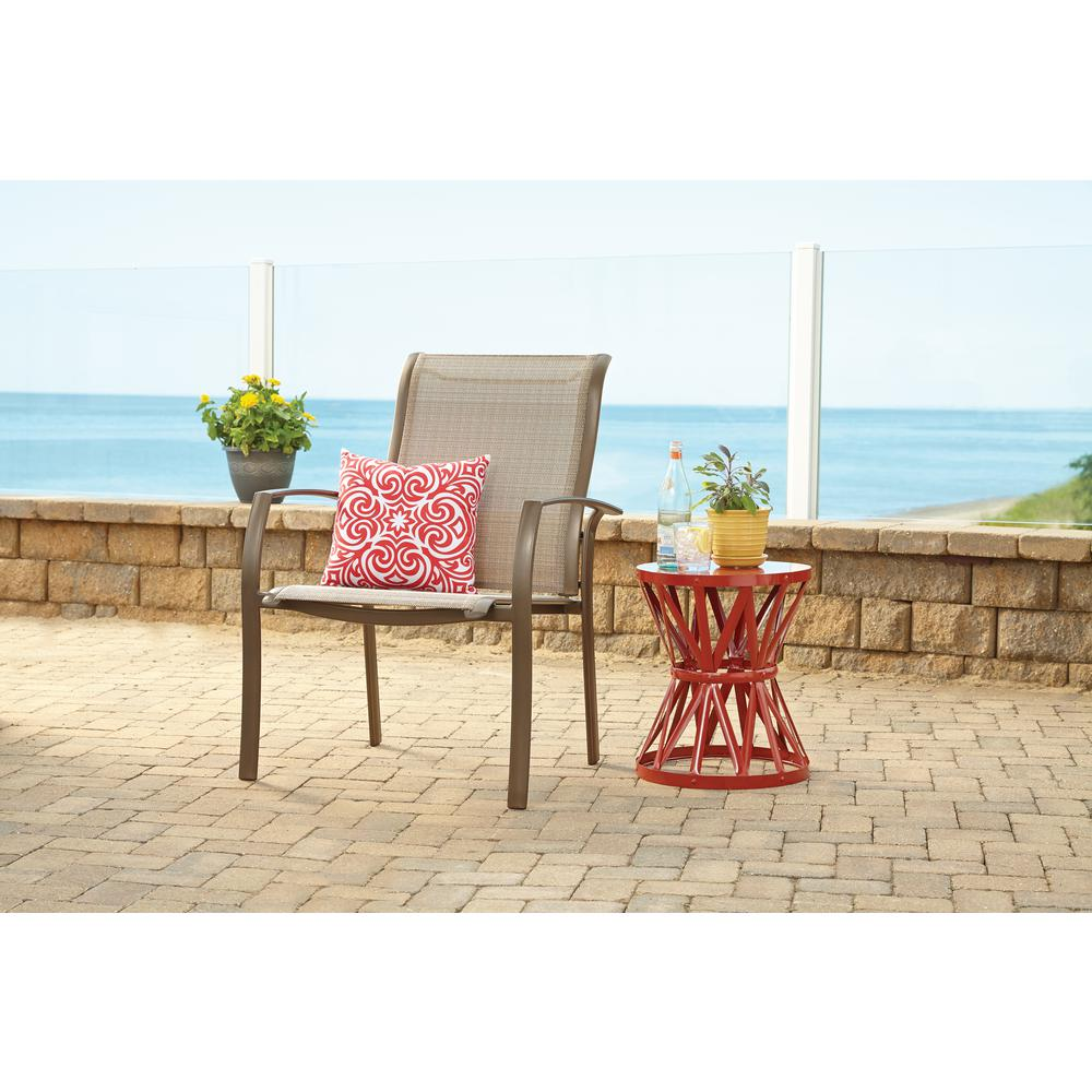 Hampton Bay Stationary Commercial Grade Aluminum Oversized Outdoor Dining Chair In Sunbrella Elevation Stone 2 Pack Fca60401bm 2pk The Home Depot